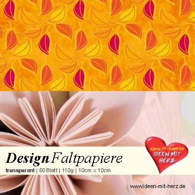 transparente faltpapiere origami fleurogami bastelbedarf ideen mit herz. Black Bedroom Furniture Sets. Home Design Ideas