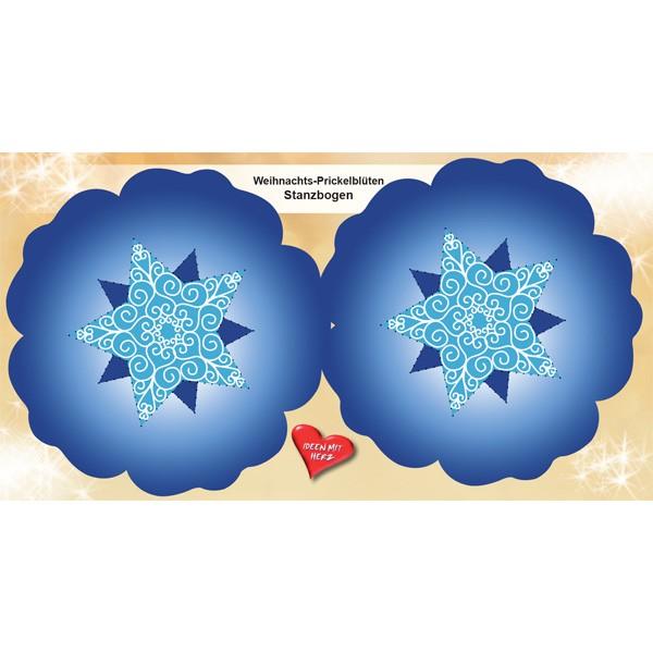 Prickelbl ten stanzbogen xmas 2bl ten 15cm blau 6er for Geschenkartikel katalog