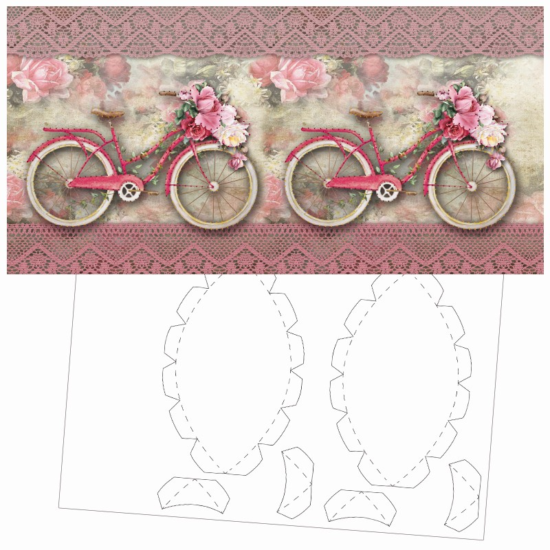 prickel karte nostalgie fahrrad inkl b den ecken 16cm x 16cm prickel leuchten led. Black Bedroom Furniture Sets. Home Design Ideas
