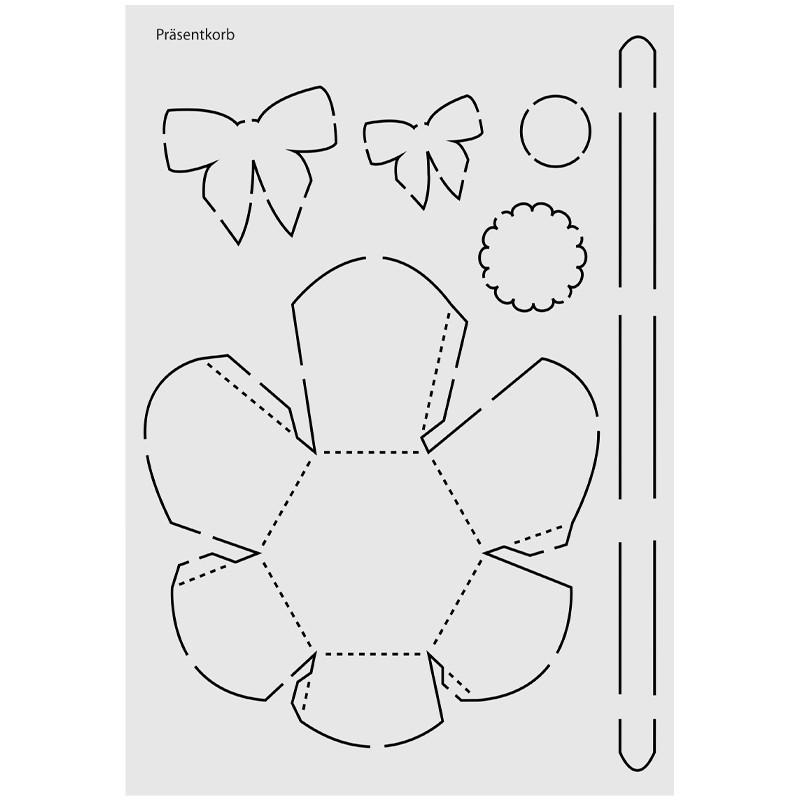 Design schablone nr 4 pr sentkorb din a4 schablonen for Geschenkartikel katalog