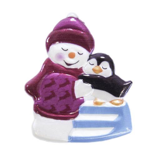 wachsornament schneemann pinguin farbig gepr gt 7 5x6 5cm wachsornamente kerzenkunst. Black Bedroom Furniture Sets. Home Design Ideas