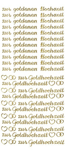 Sticker Schrift zur goldenen Hochzeit gold