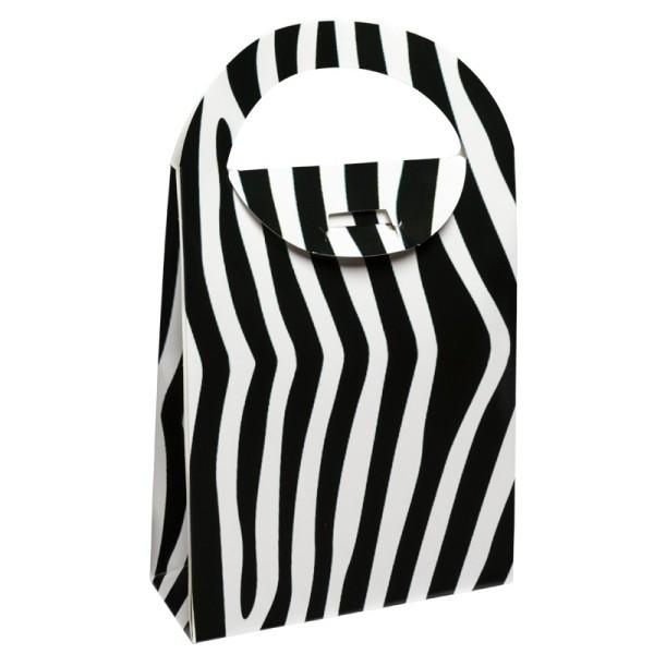 Geschenktasche Zebra, 4,5 x 11,5 x 20 cm