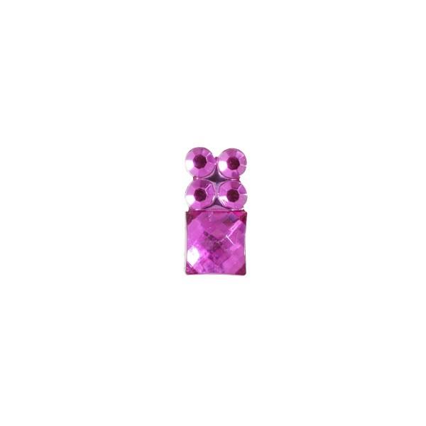 Ornament-Glitzersteine, 50 Stück, Design 4, pink