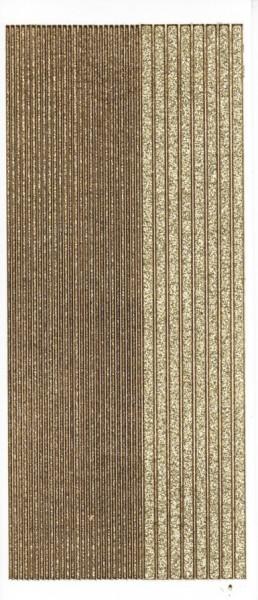 Microglitter-Sticker, Linien, gold