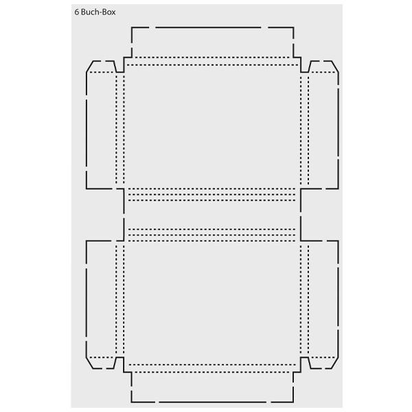 design schablone buch box din a3 schablonen geschenktaschen boxen deko. Black Bedroom Furniture Sets. Home Design Ideas