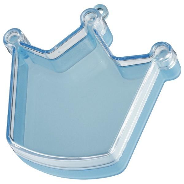 Acryl-Dose, Krone, 8 x 8 x 2,5 cm, blau