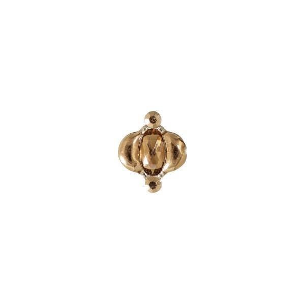 Ornament-Glitzersteine, 50 Stück, Design 3, gold