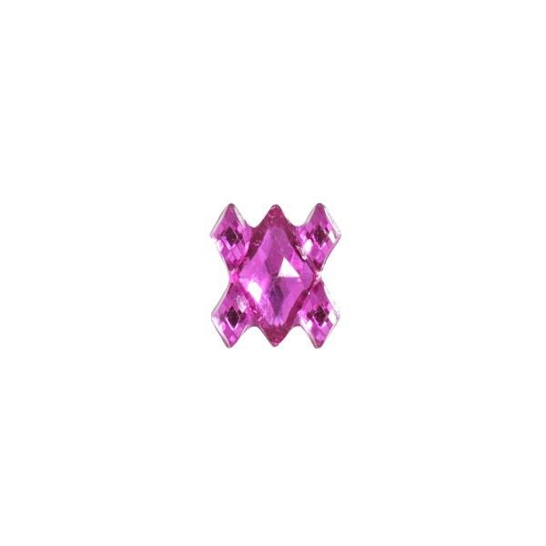 Ornament-Glitzersteine, 50 Stück, Design 2, pink