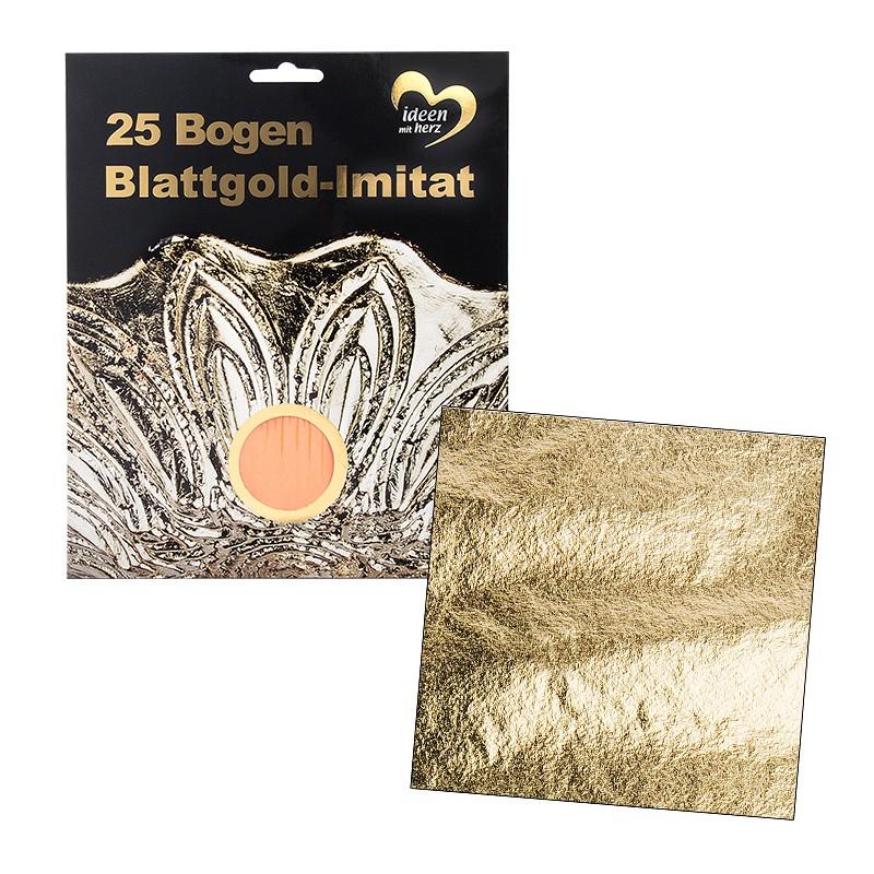 blattgold imitat 15 x 15 cm 25 bogen verschiedenes deko artikel deko geschenkartikel. Black Bedroom Furniture Sets. Home Design Ideas