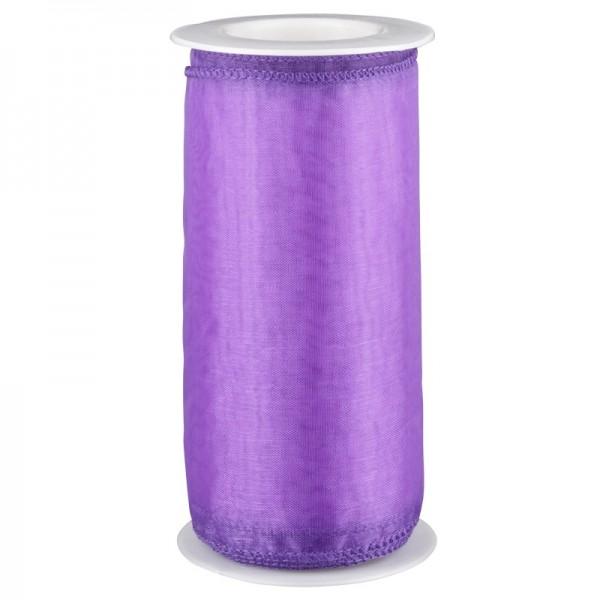 Organza-Dekoband, 12 x 300 cm, lila