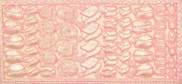Wachsornament-Platte Tulpen, 16 x 8 cm, rosa